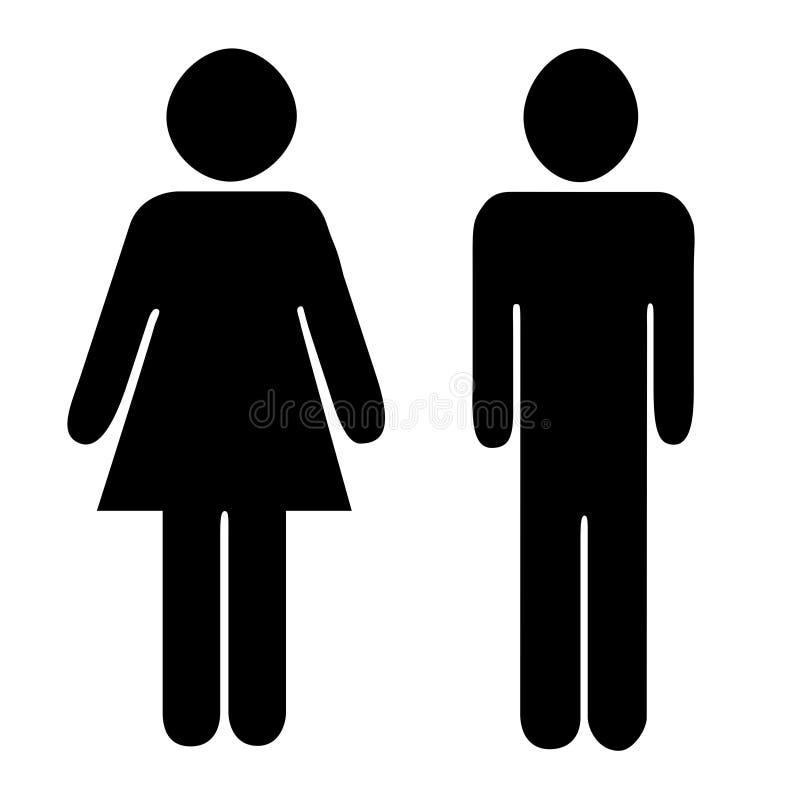 Dames et Gentlement illustration libre de droits