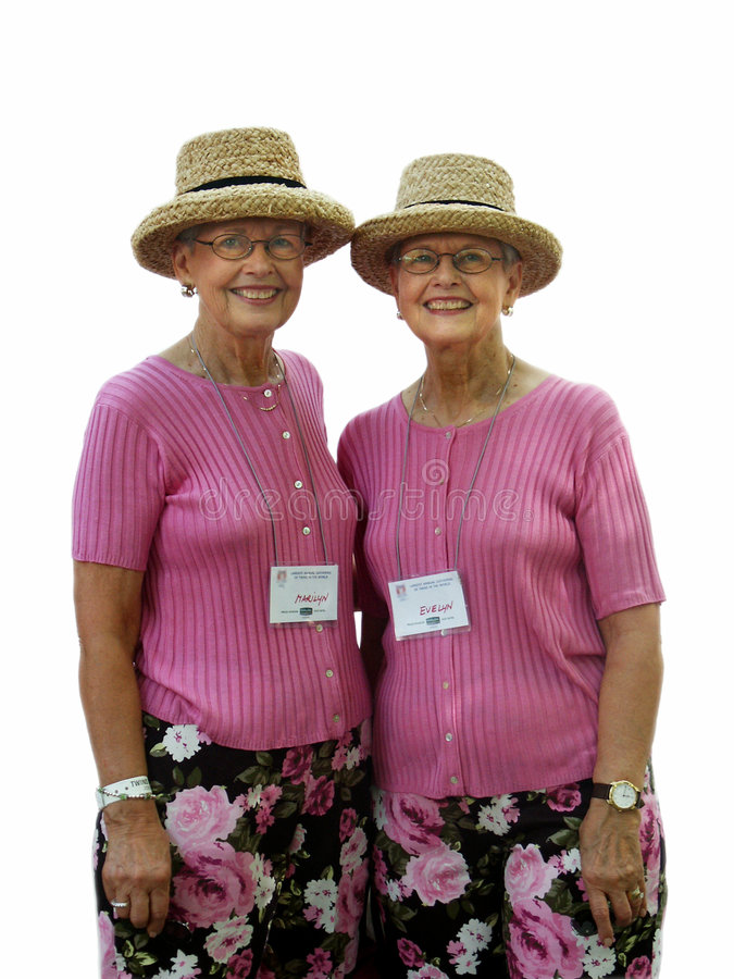 Dames jumelles image libre de droits