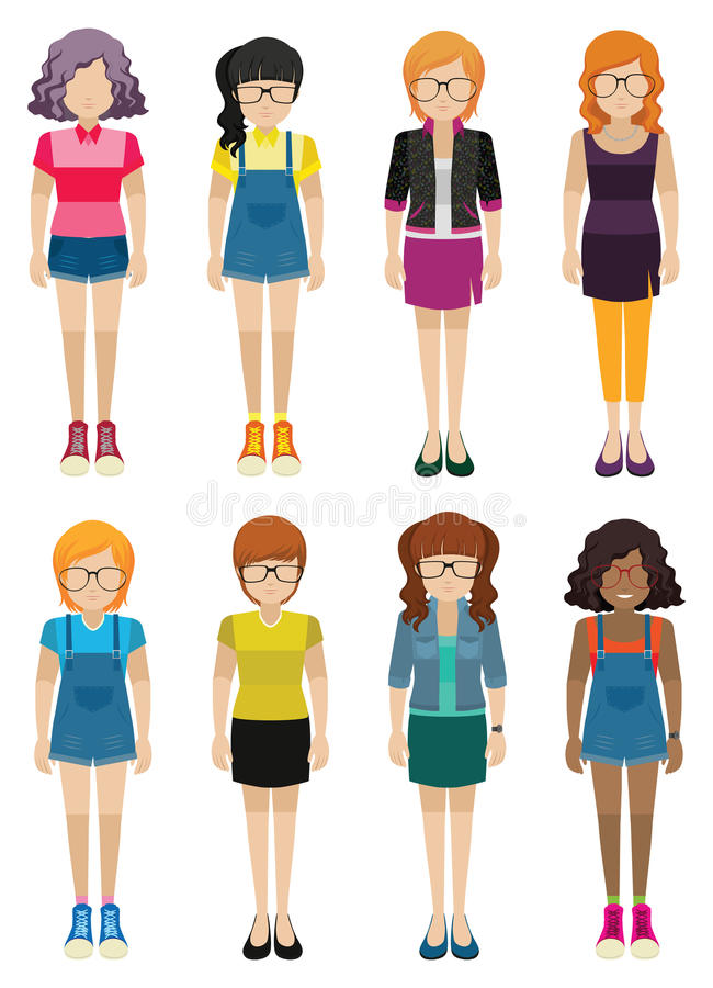 Dames sans visage illustration de vecteur