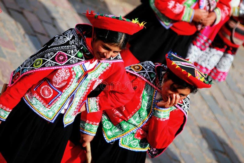 Dames van Cusco stock foto's