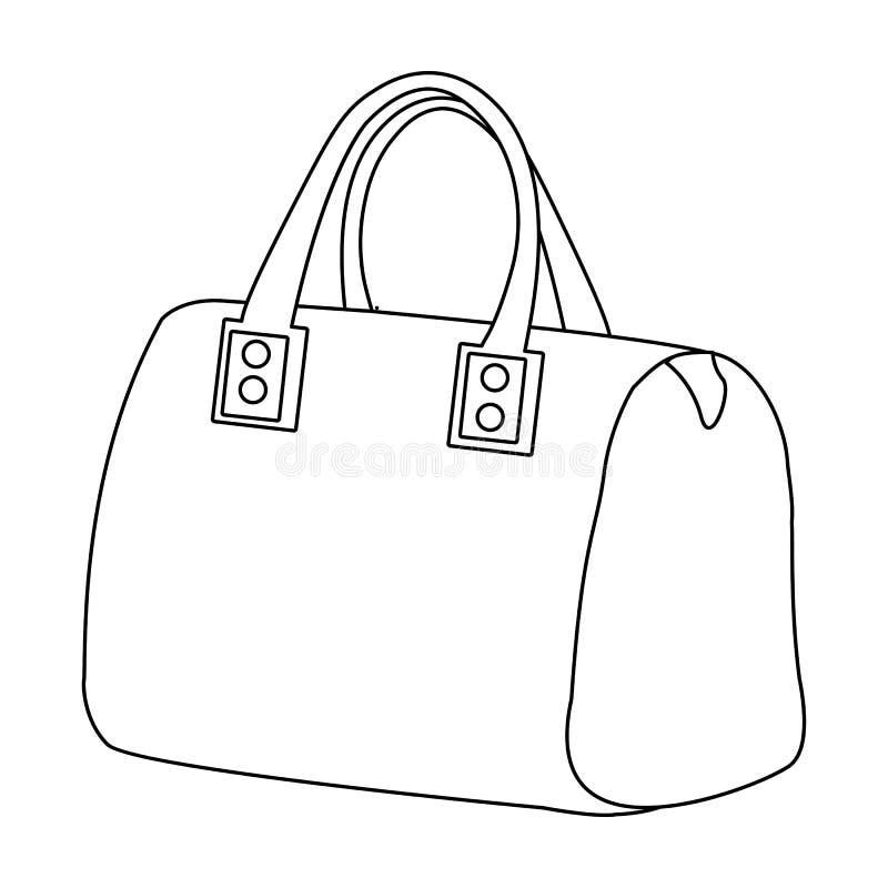 dames zak met handvatten Dames bijkomende punten De vrouw kleedt enig pictogram in vector het symboolvoorraad van de overzichtsst vector illustratie