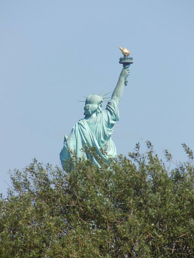 Damestatuut van vrijheid stock fotografie