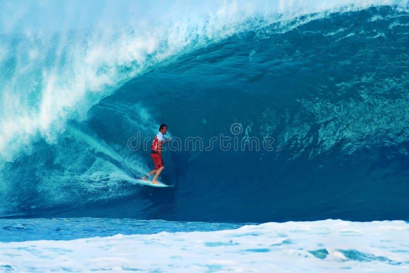 damien Hawaii hobgood rurociąg surfingowa surfing obraz stock