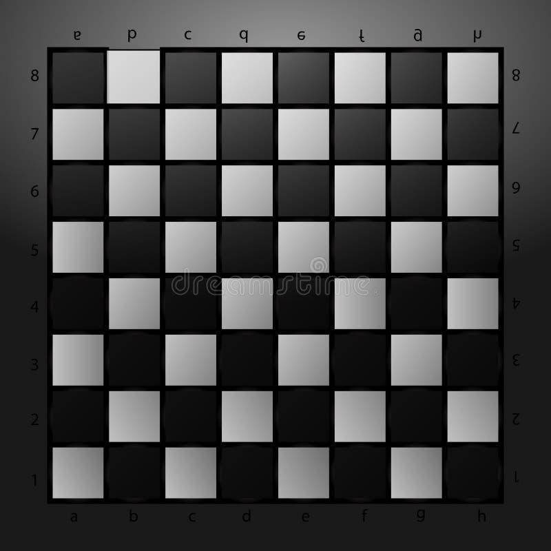 Damier noir et blanc sur un fond en verre Illustration de vecteur photos libres de droits