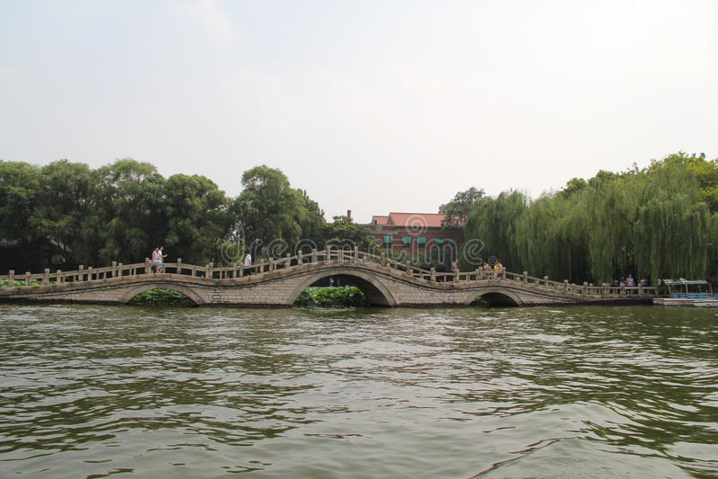 Daming Lake, Jinan-Stadt, Shandong-Provinz, China-Park stockfoto