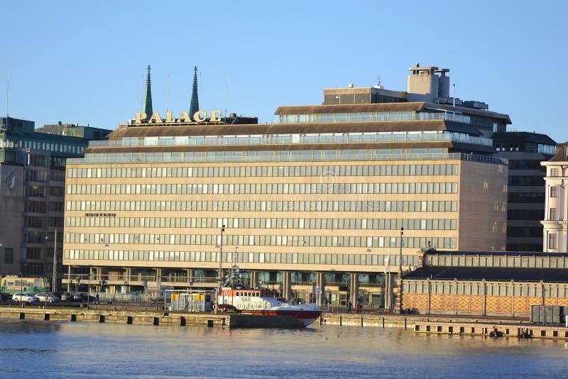 Damm in Helsinki, Finnland lizenzfreies stockfoto