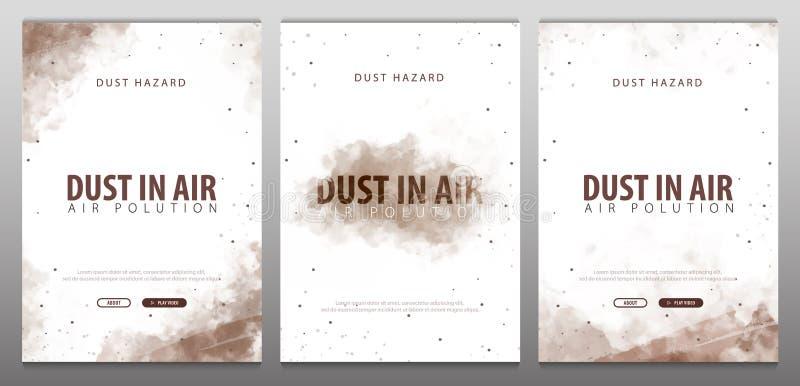 Damm i luft Dammfara Förorenad luft också vektor för coreldrawillustration royaltyfri illustrationer