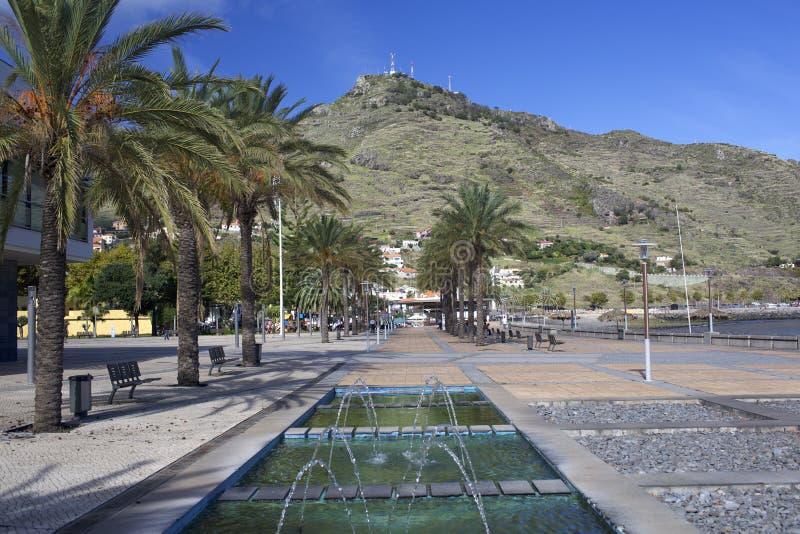 Damm in Machico, Madeira stockfoto