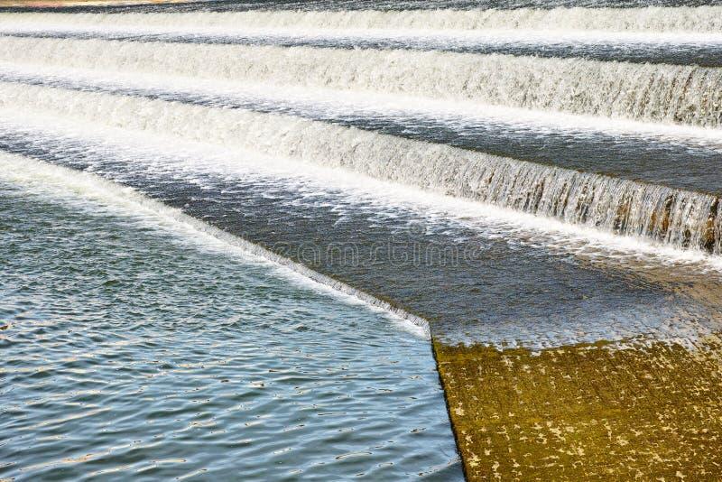 DammbyggnadLechwehr kaskader royaltyfri fotografi