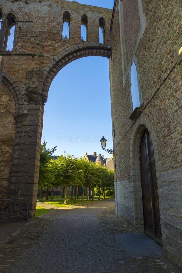 Damme Belgium Church. Belgium, West Flanders Vlaanderen, Damme. Onze-Lieve-Vrouwkerk Our Lady of Damme church stock photography