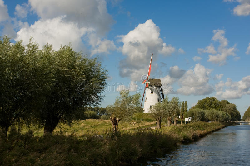Damme vicino a Bruges immagine stock