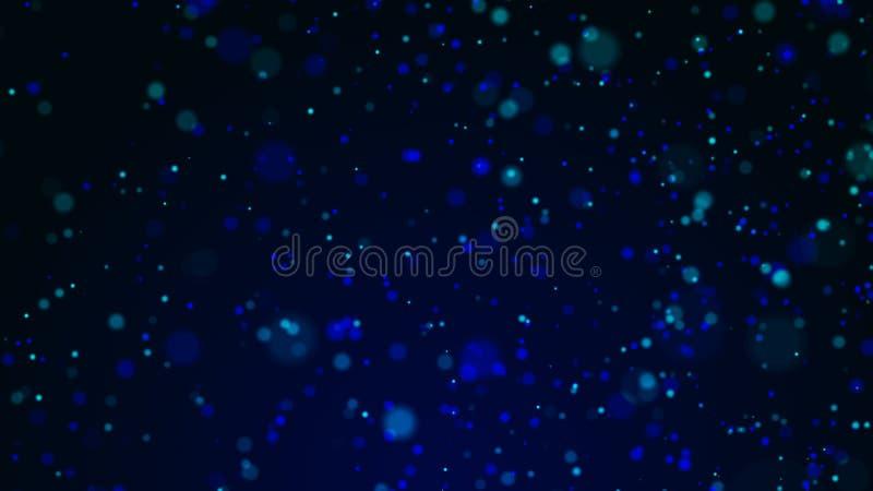 Dammpartiklar Abstrakt bakgrund av prickar Kosmisk illustration framf?rande 3d stock illustrationer