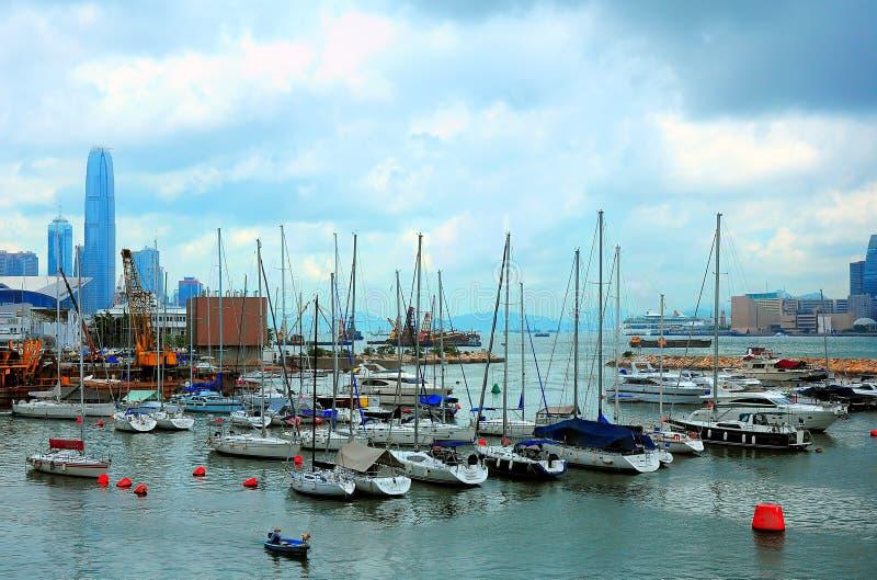 Dammschacht-Taifunschutz, Hong Kong lizenzfreie stockbilder