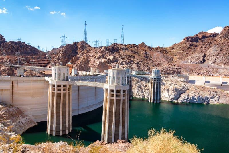 Dammsugarefördämning och Coloradofloden arkivfoton