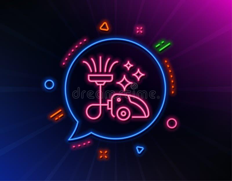 Dammsugarelinje symbol reng?rande service vektor royaltyfri illustrationer