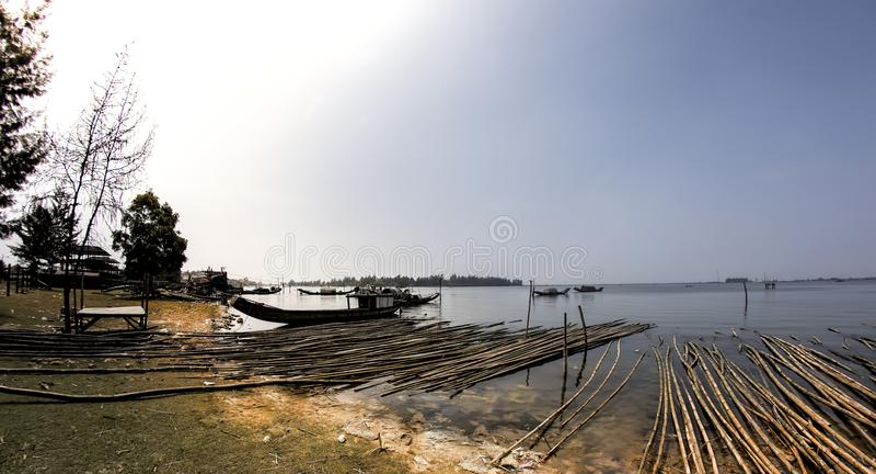Damnai lagune stock fotografie