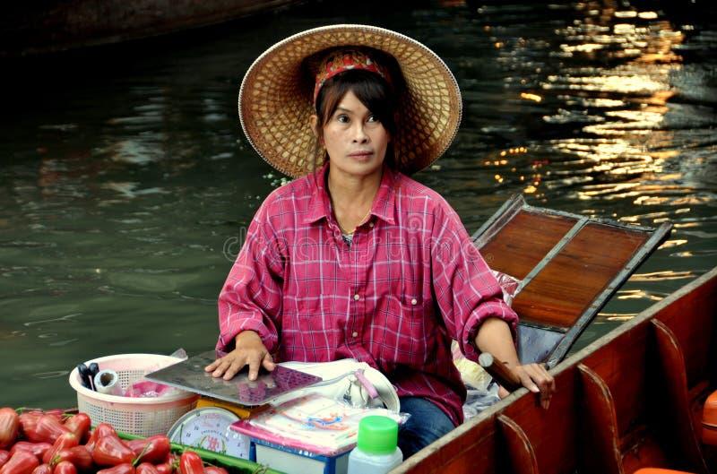 damnoen spławowego targowego saduak Thailand obrazy stock