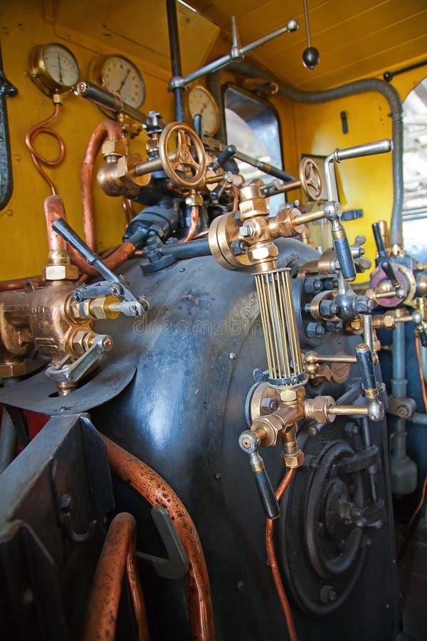 Dampf angeschaltener Motor stockbild