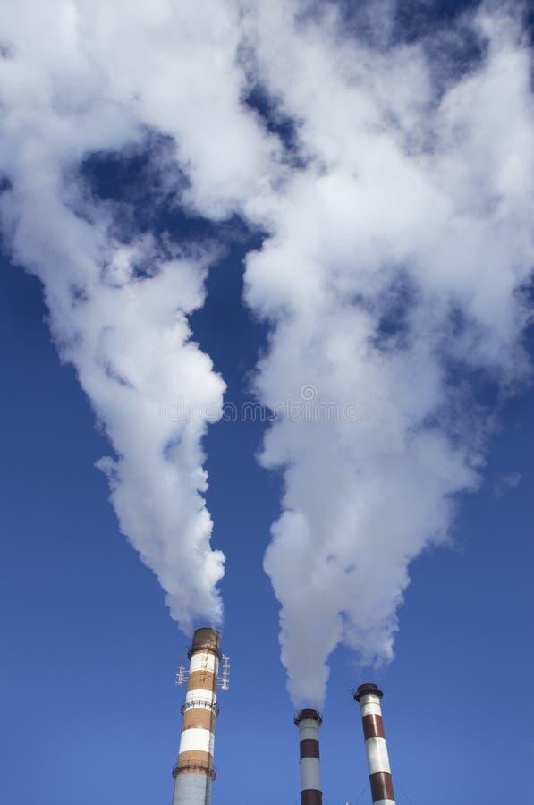 Dampf der Fabrik lizenzfreies stockbild