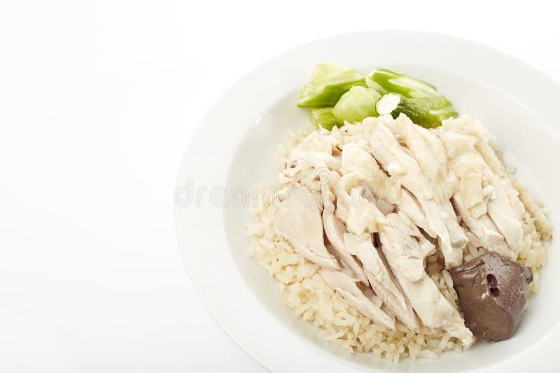 Dampf-Huhn mit Reis lizenzfreie stockfotografie