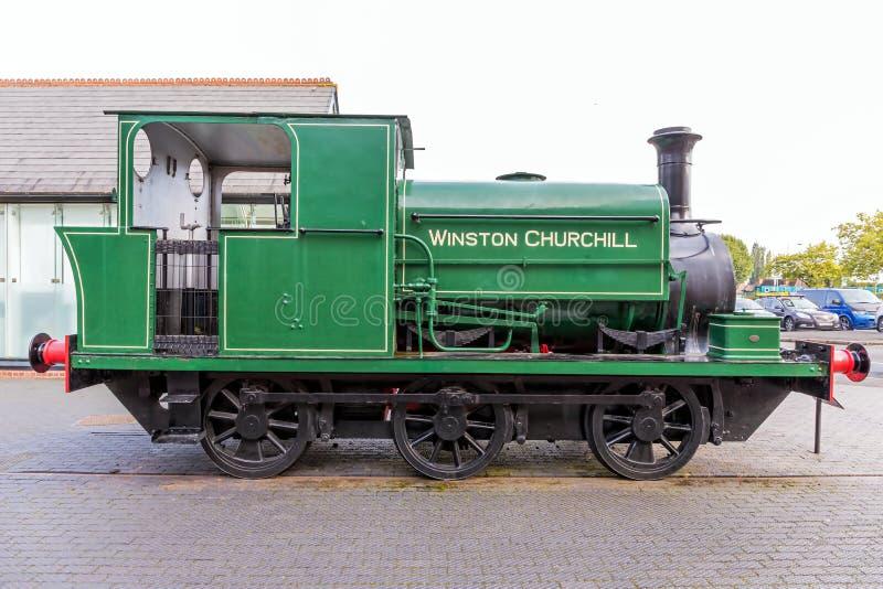 0-6-0. Dampf-Lokomotive Briten stockfotografie