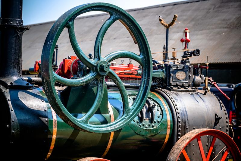 Dampf-Maschinen-Nahaufnahme stockfoto