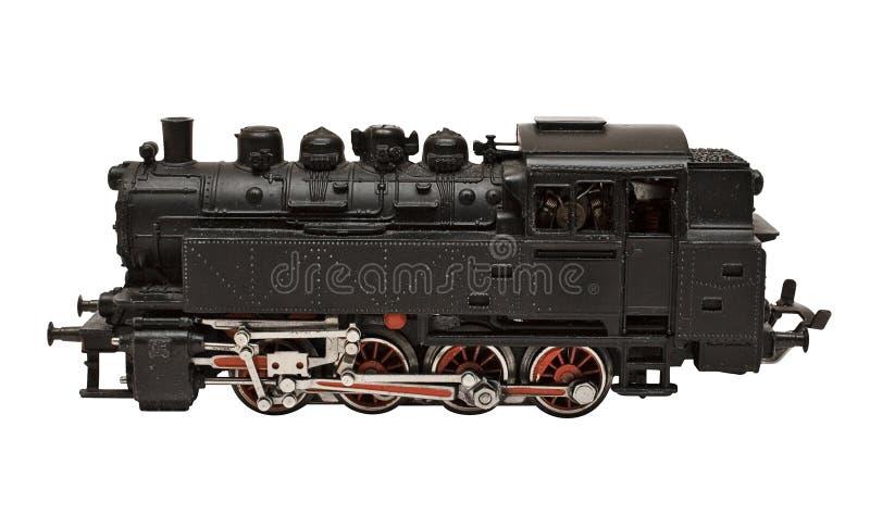 Dampf-Motor-Baumuster mit Pfad (Seitenansicht) stockfotos