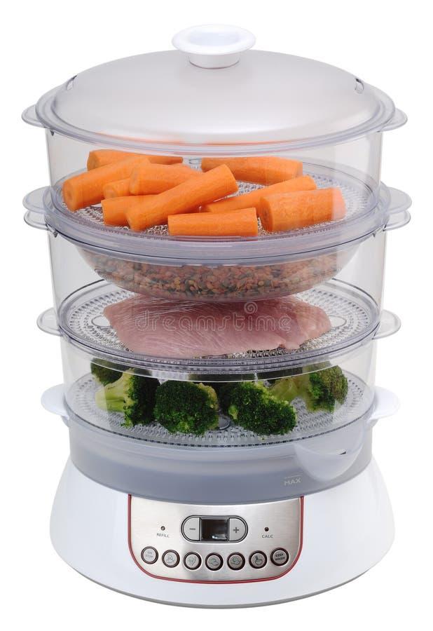 Dampfkocher mit Gemüse stockbild. Bild von nahrung, diät - 43141053