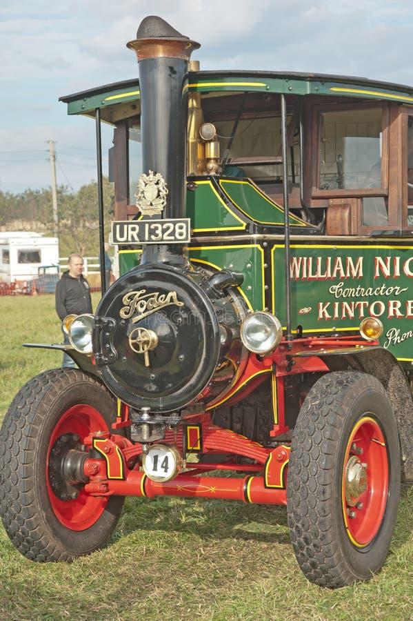 Dampflastwagen an der Roseisle Weinlesesammlung stockbilder