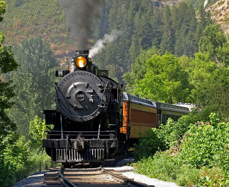 Dampflokomotive 2 lizenzfreies stockbild