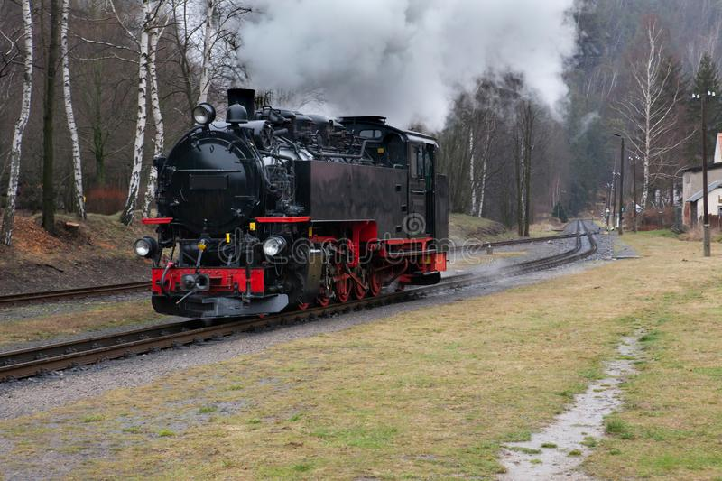 Dampflokomotive stockbild