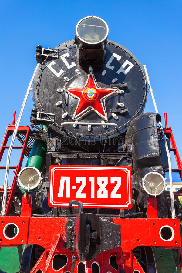 Dampflokomotive in Ulan-Ude lizenzfreies stockbild