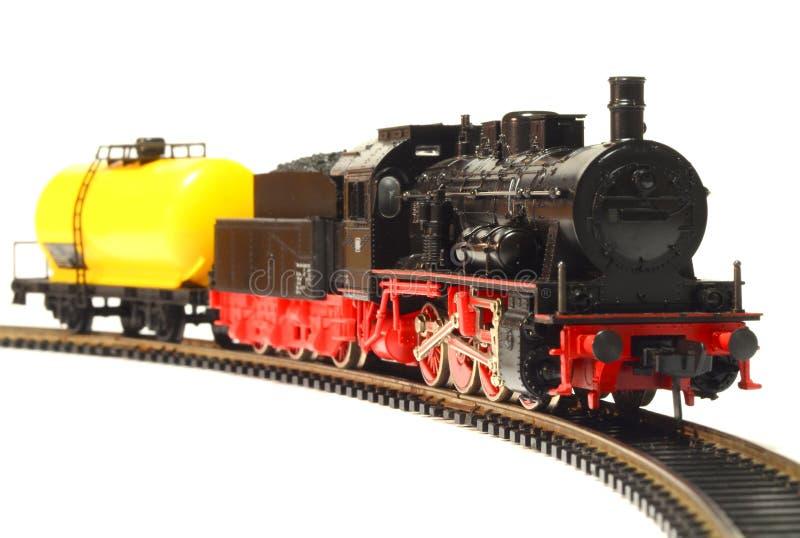 Dampflokomotivemodell lokalisiert über Weiß lizenzfreie stockfotografie