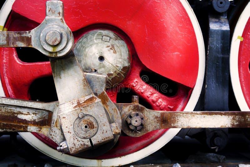 Dampflokomotiverad lizenzfreie stockfotos