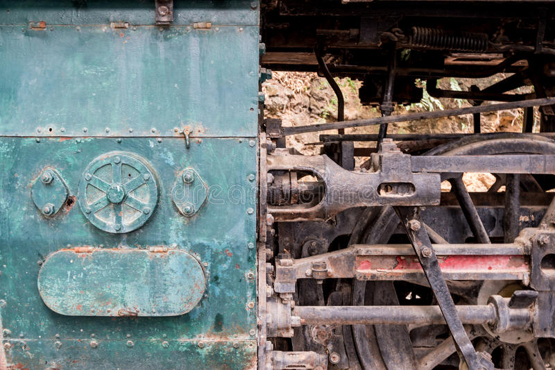 Dampflokomotivmechaniker stockbild