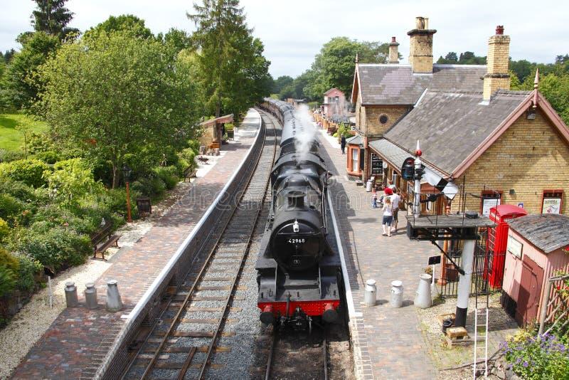 Dampfserie an der Arley Station lizenzfreie stockbilder