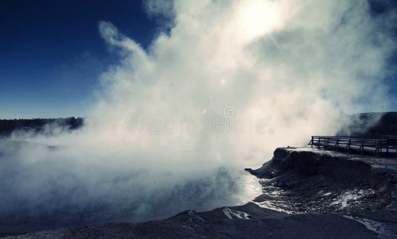 Dampfwolken! lizenzfreie stockfotos