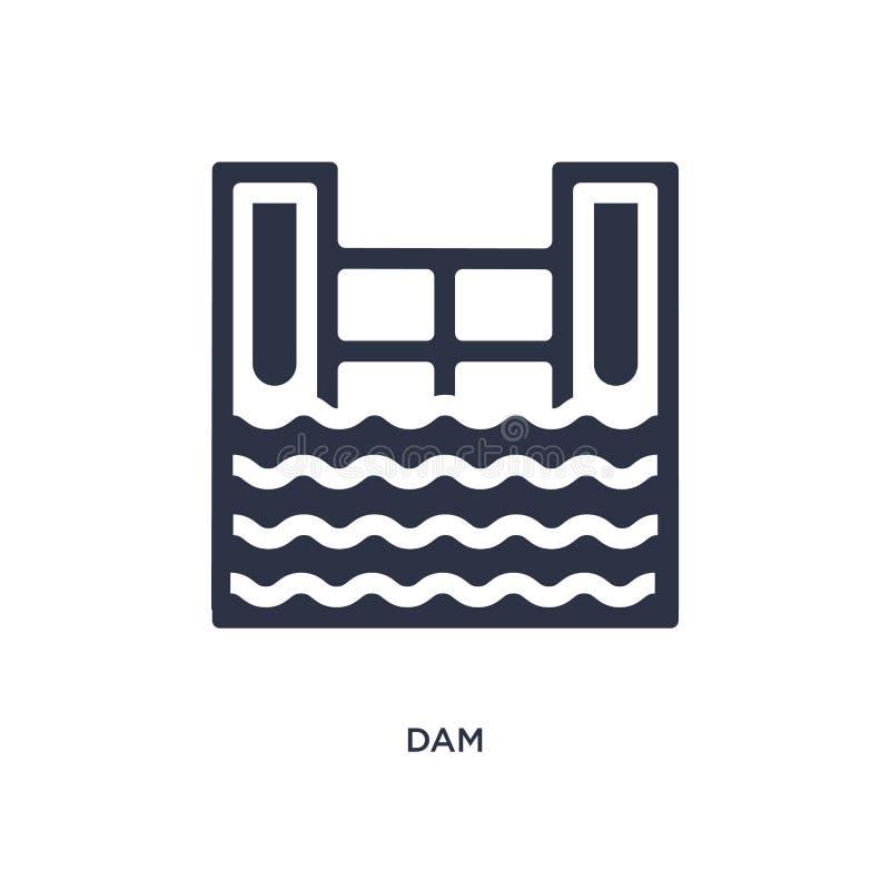 dampictogram op witte achtergrond Eenvoudige elementenillustratie van ecologieconcept vector illustratie