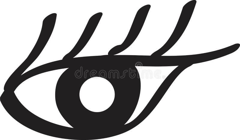 Dams plan symbol för öga Vektorillustration för design av skönhetkataloger, affärskort, tidskrifter stock illustrationer