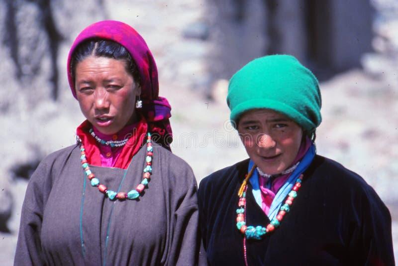 Damtoalett på festivalen i Ladakh, Indien royaltyfria foton