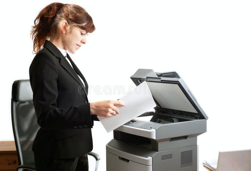 damy biznesowa drukarka obraz stock