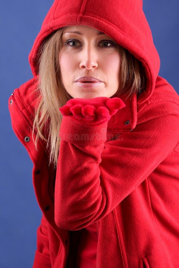 damy czerwieni zima zdjęcie royalty free
