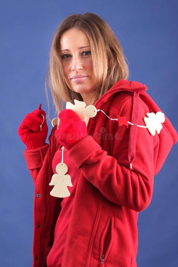 damy czerwieni zima zdjęcia royalty free