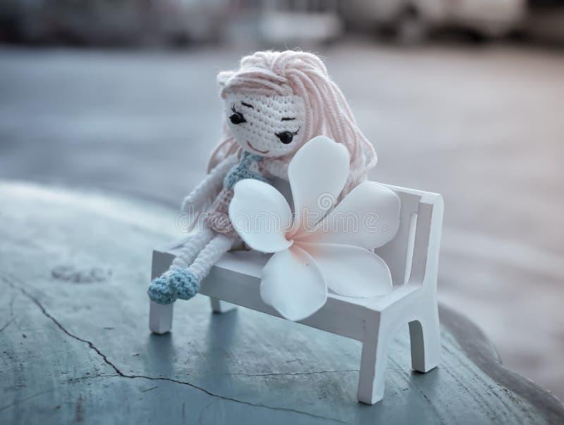 Damy lala z plumeria kwiatem fotografia stock