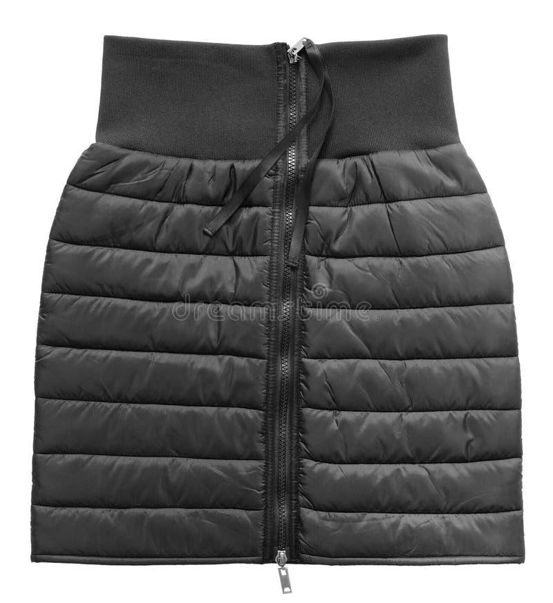 Damy pikowali czerni spódnicę, odizolowywającą zdjęcie stock