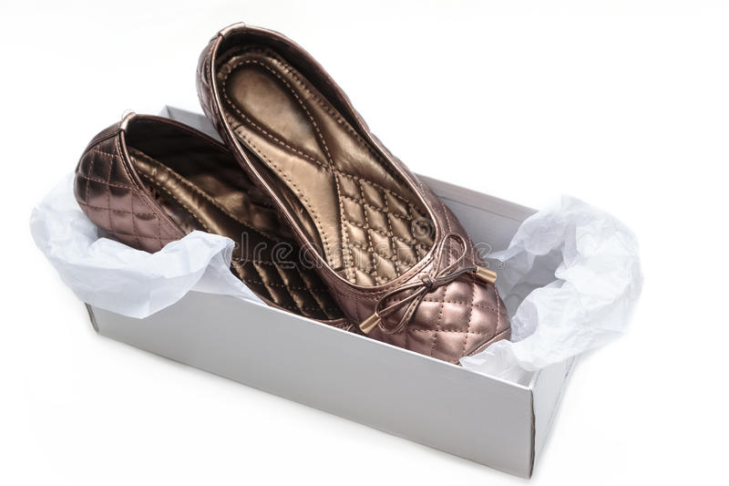Damy pudełko i buty obraz stock