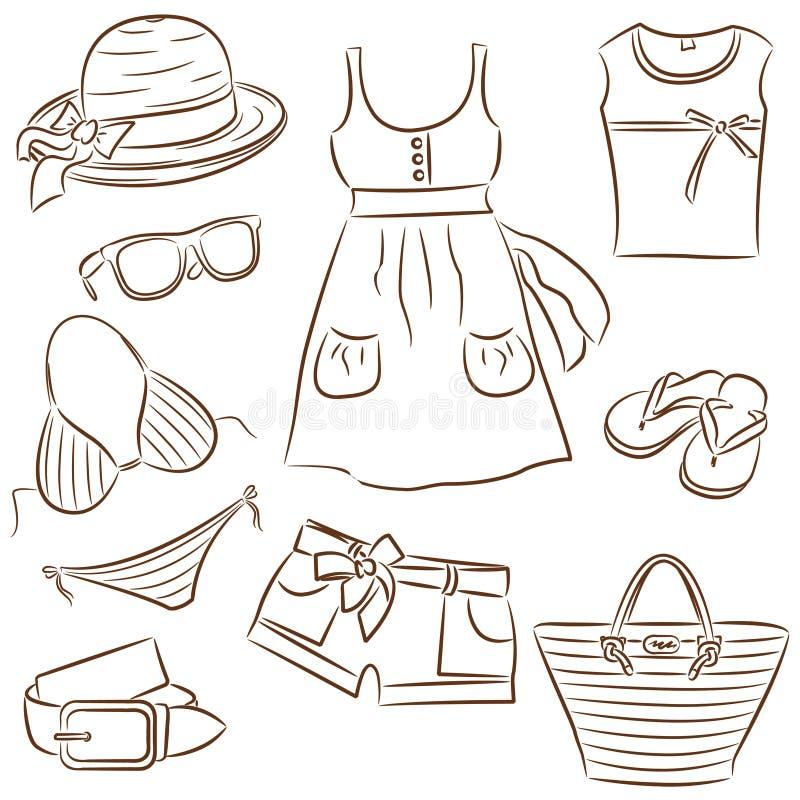 damy s lato odzież royalty ilustracja