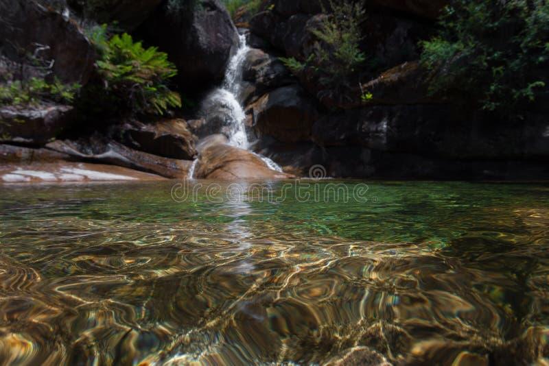 Damy skąpania spadki - Mt bizon zdjęcia royalty free
