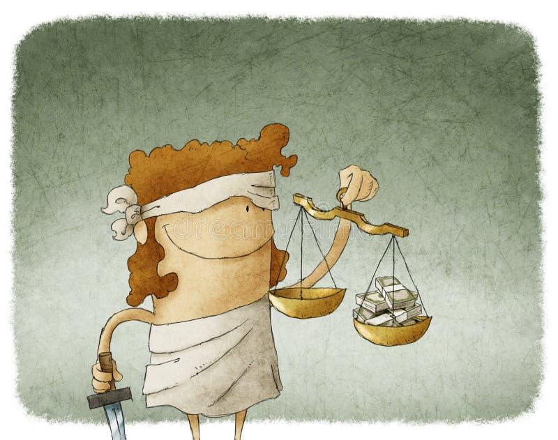 Damy sprawiedliwość ilustracja wektor