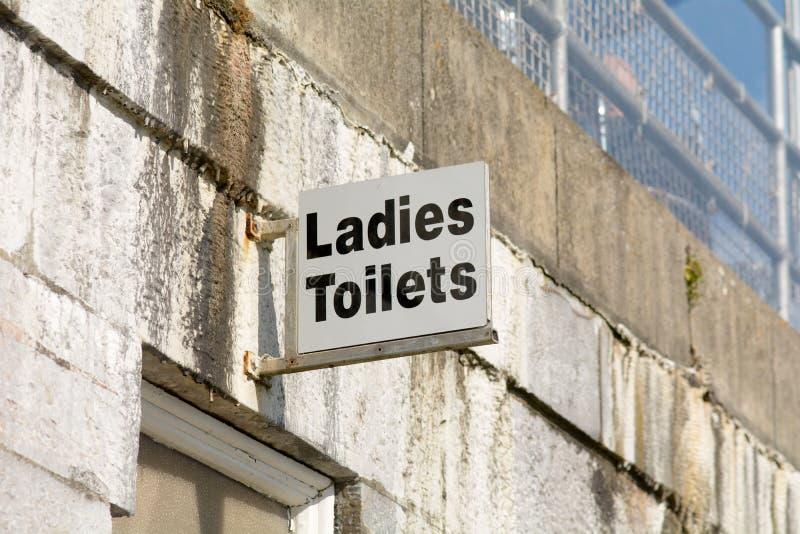 Damy toalety znak zdjęcie stock